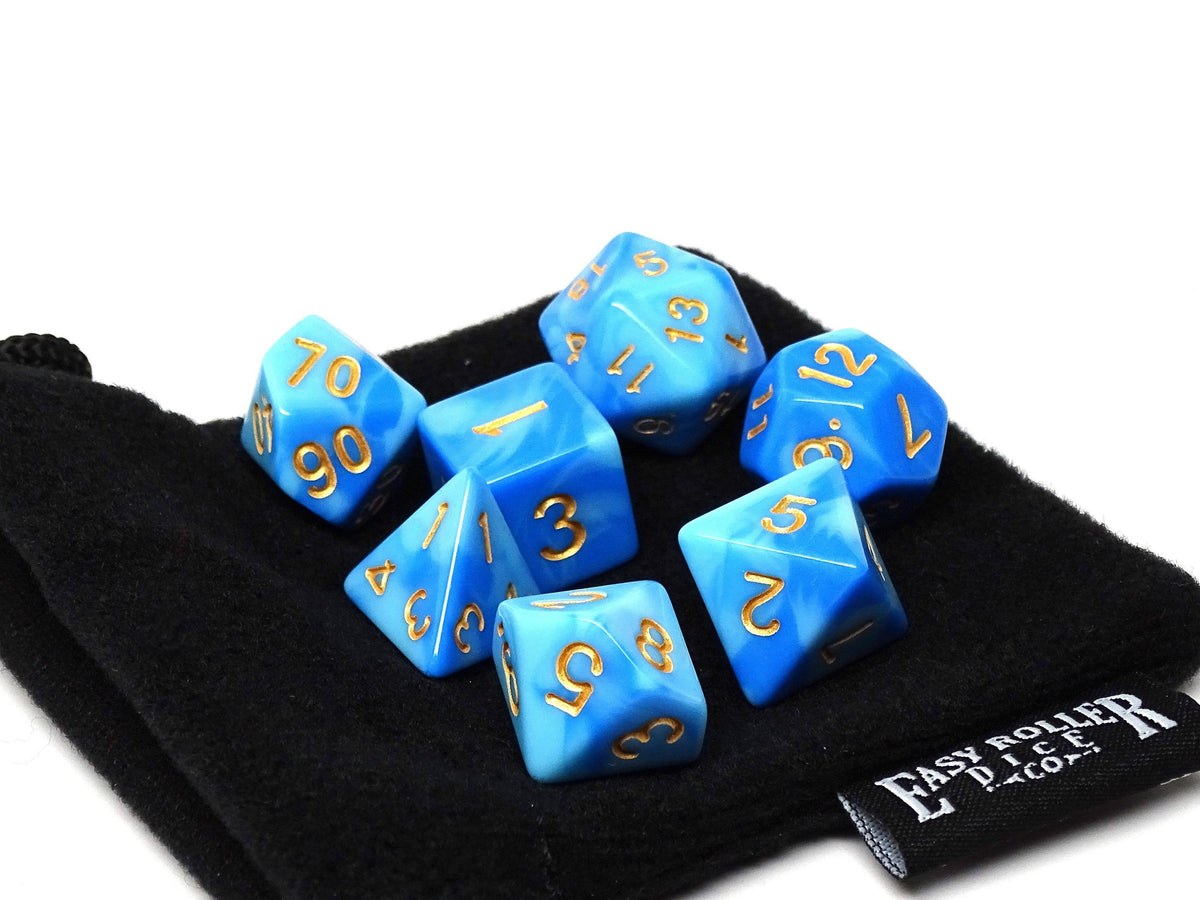 Winter Frost Dice Collection - 7 Piece Set