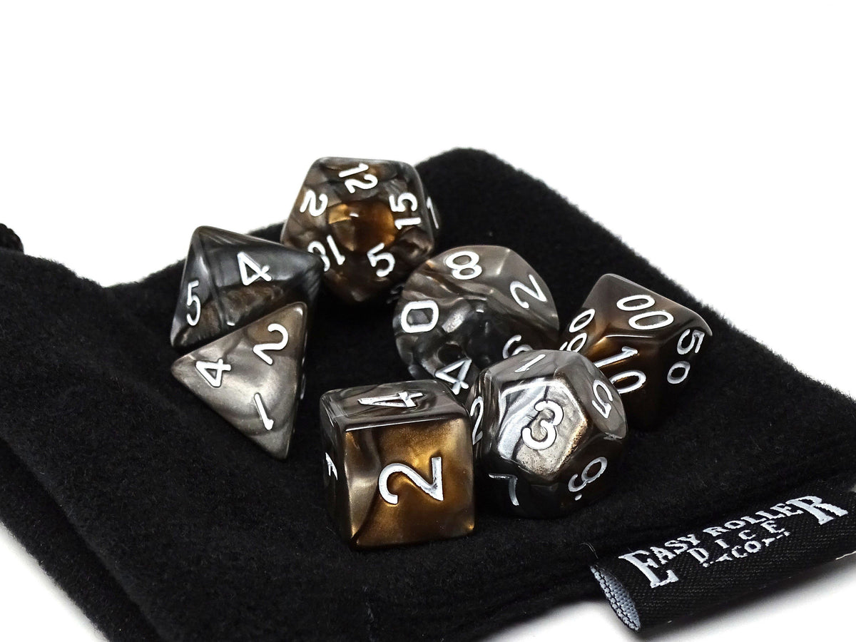 Swirled Rock Dice Collection - 7 Piece Set