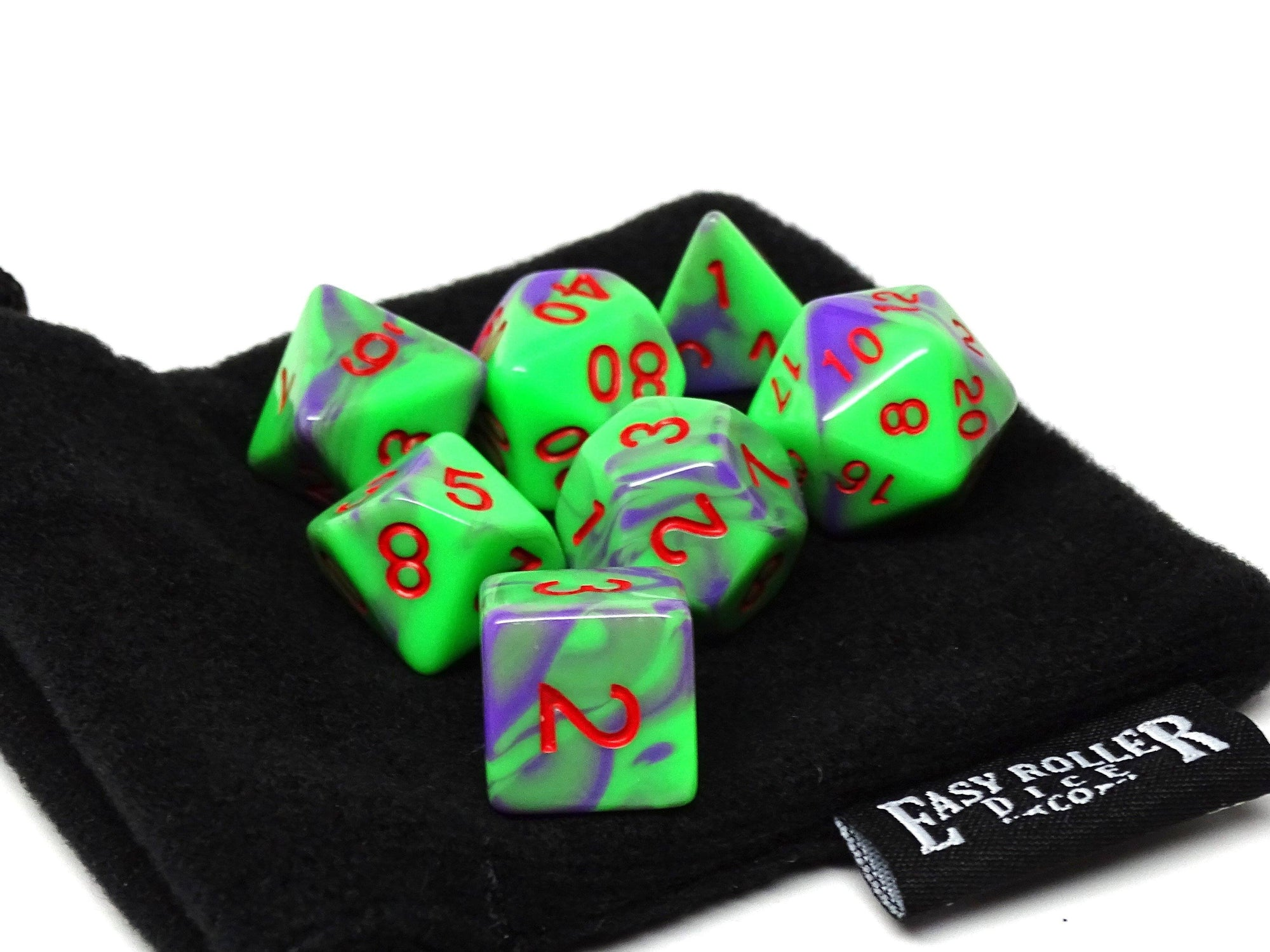 Toxic Swirl Dice Collection - 7 Piece Set