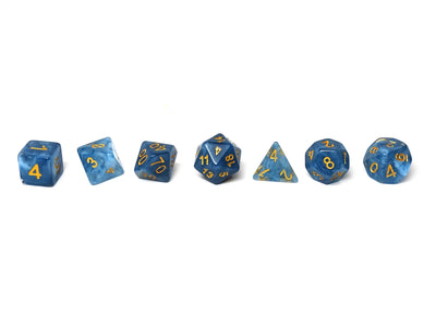 Blue Ivory Dice Collection - 7 Piece Set