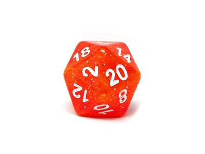 Orange Galaxy Sparkle Dice Set