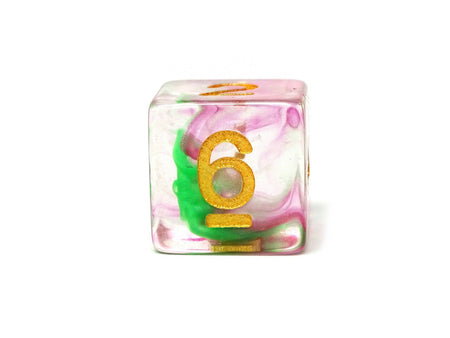 2 Tone Glacier - Green and Pink Dice Collection - 7 Piece Set