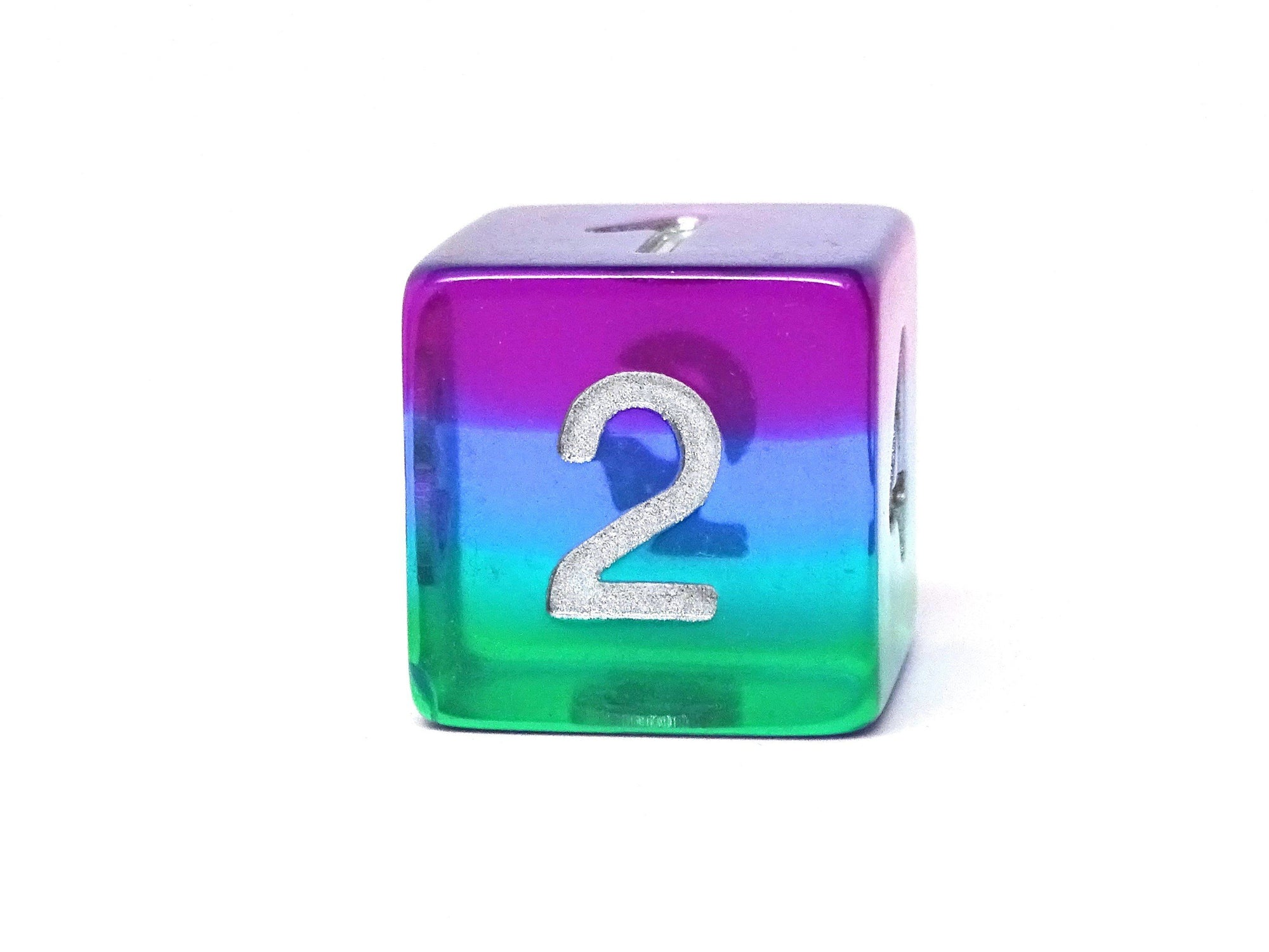 Translucent 3 Tone 7 Piece Dice Set - Green, Blue, Purple