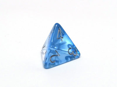 Transparent Blue 4-Layer  Dice Collection - 7 Piece Set