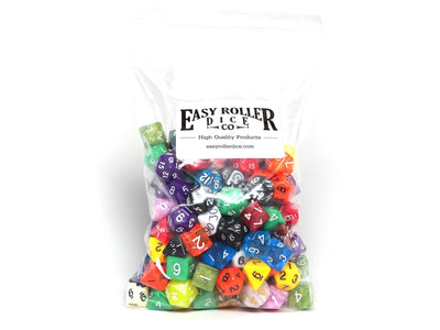 One Pound Bag of Random Polyhedral Dice - All Colors, All Sizes