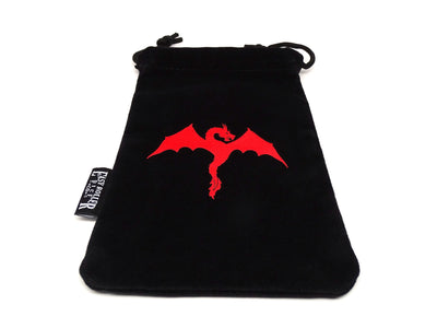 Microfiber Classic Dice Bag with Wyvern Image - 5x8 inches