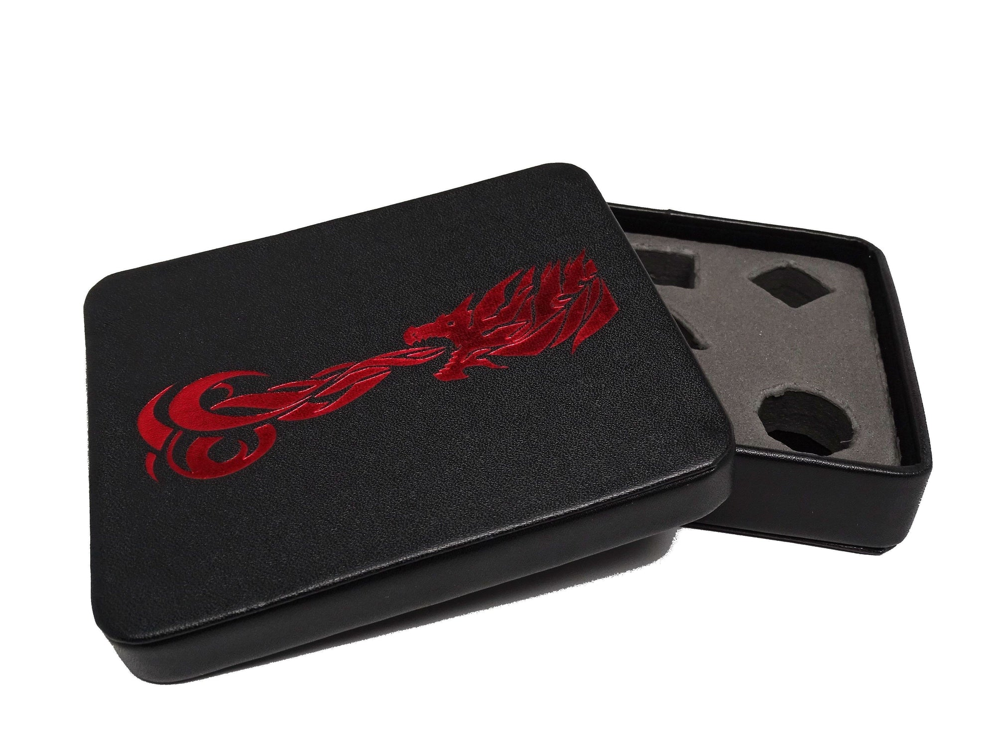 Dice Display and Storage Case - Red Dragon Design