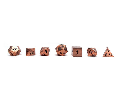 copper dragon dice with black numbers