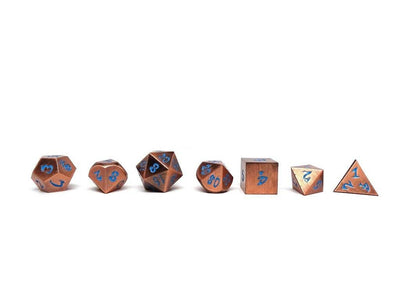 antique copper dice