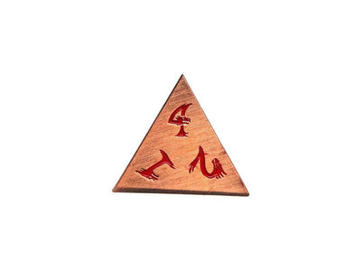 Metal Dice of Ancient Dragons - Ancient Copper with Red Dragon Font