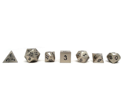 silver dice black numbers