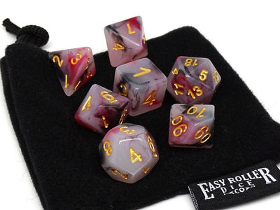 Brimstone Swirl Dice Collection - 7 Piece Set