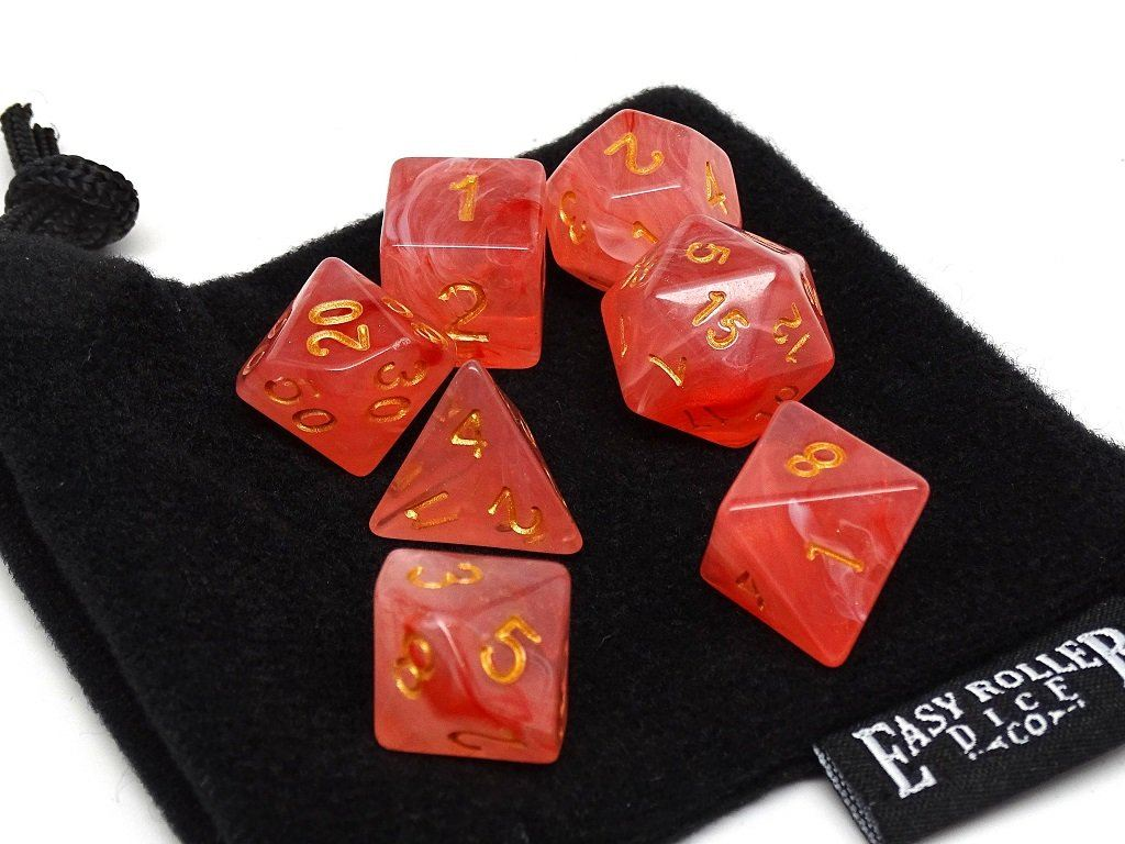 Frosted Pink Glacier - 7 Piece Dice Collection