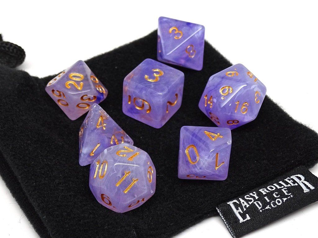 Frosted Purple Glacier - 7 Piece Dice Collection