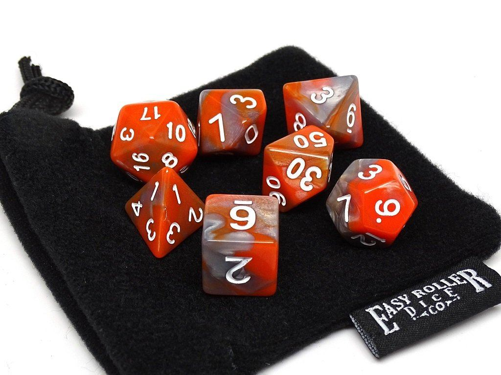 Autumn Swirl - 7 Piece Dice Collection