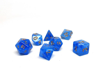Frosted Blue Glacier - 7 Piece Dice Collection