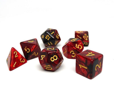 Lava Swirl - 7 Piece Dice Collection