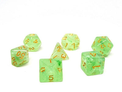 Frosted Green Glacier - 7 Piece Dice Collection