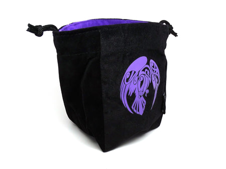 Raven Reversible Microfiber Self-Standing Large Dice Bag