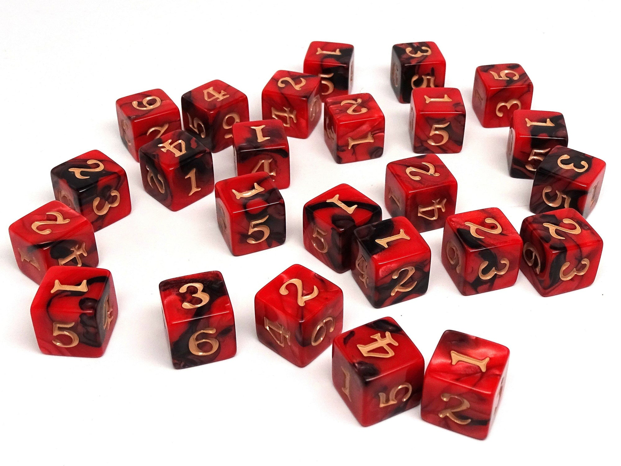 Army Dice Set #6 - 25 Count D6 Collection
