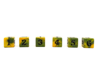 10 Pack Army D6 Dice Set #4 - 10 Count D6 Collection
