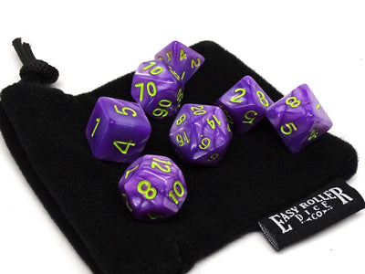 Toxic Marble Dice Collection - 7 Piece Set