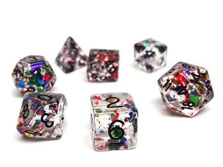 Disco Ball Dice Set - 7 Piece Collection