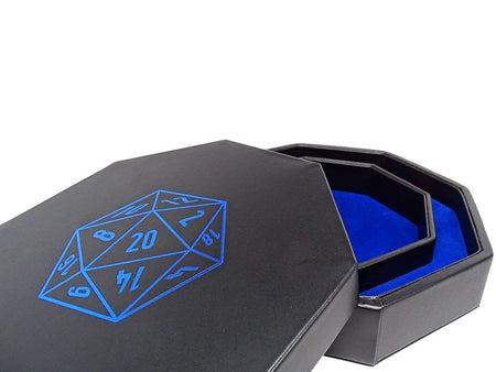 D20 Design Dice Tray With Dice Staging Area and Lid