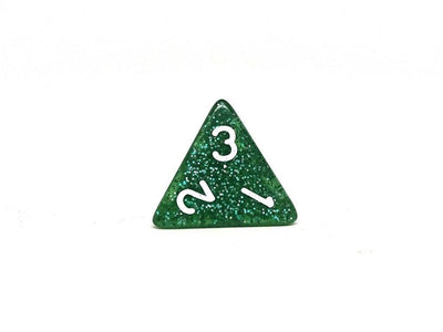 Emerald Sparkle Dice Set - 7 Piece Collection