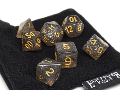 Midnight Sparkle Dice Set - 7 Piece Collection
