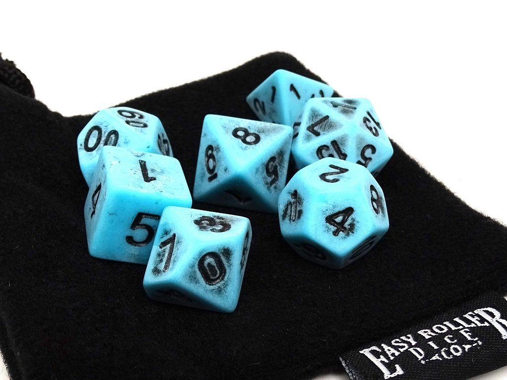Ancient Topaz Dice Collection - 7 Piece Set