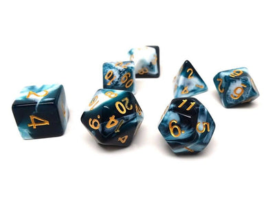 Storm Cloud Dice Collection - 7 Piece Set