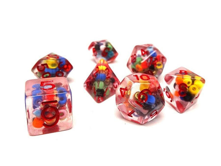Beaded Dice Collection - 7 Piece Set