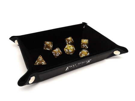 Collapsible Snap Dice Tray - Black Interior