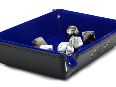 Collapsible Snap Dice Tray - Blue Interior