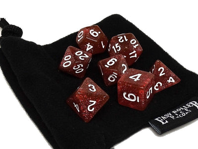 Rose Galaxy Dice Collection - 7 Piece Set