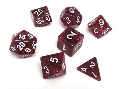 Dark Rose Galaxy Dice Collection - 7 Piece Set