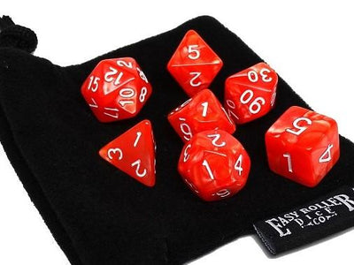 Strawberry Swirl - 7 Piece Dice Collection