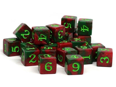 Army Dice Set #20 - 25 Count D6 Collection