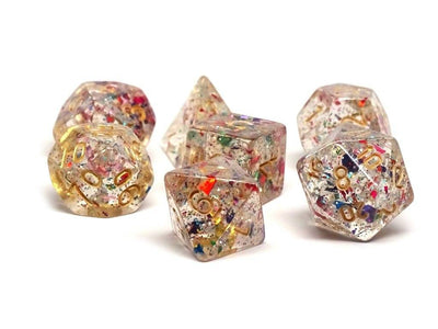 Confetti Dice Collection - 7 Piece Set