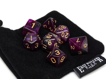 Plum Stardust Dice Collection - 7 Piece Set