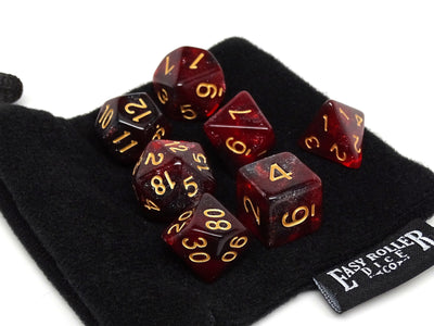 Crimson Stardust Dice Collection - 7 Piece Set
