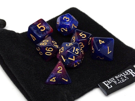 Midnight Purple Stardust Dice Collection - 7 Piece Set
