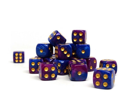 12mm D6 Dice - Purple Dawn - 25 Count Bag