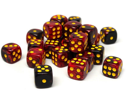 12mm D6 Dice - Lava Swirl - 25 Count Bag