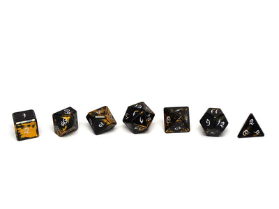 Aluminum Elite Dice of the Elvenkind - Gold 7 Dice Set