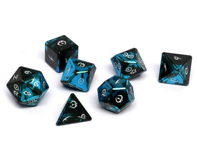 Aluminum Elite Dice of the Elvenkind - Powder Blue 7 Dice Set