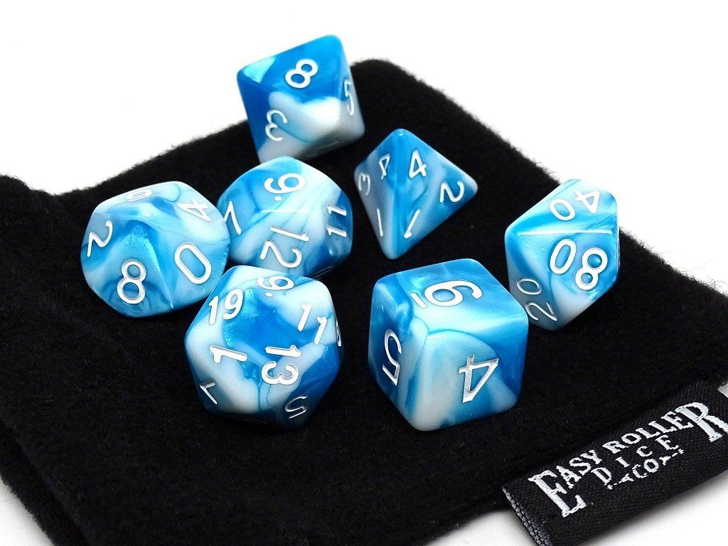 Cloud Swirl Dice Collection - 7 Piece Set