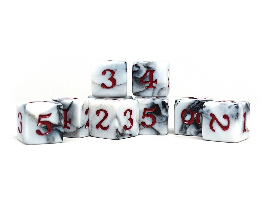 10 Pack Army D6 Dice Set #12 - 10 Count D6 Collection