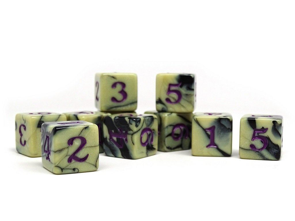 10 Pack Army D6 Dice Set #13 - 10 Count D6 Collection